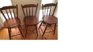 timber bar stools