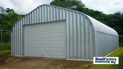 Steel Factory Mfg 30x50x15 Residential P-series Garage Building Workshop Kit