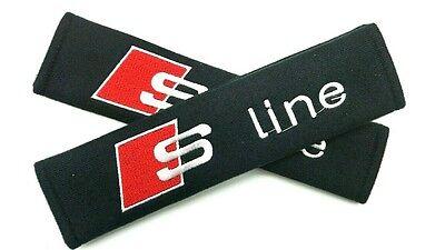 Seat Belt Shoulder Strap Pads S LINE Audi A3 A4 A5 A6 A7 A8 Q3 Q5 Q7 TT R8 S3 S4