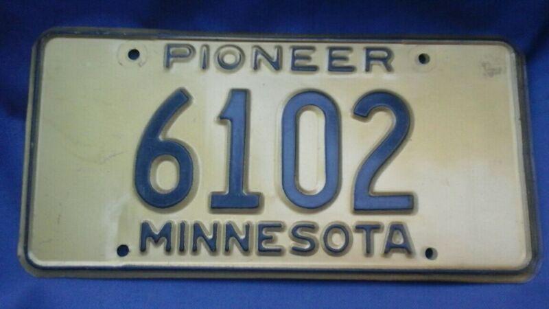 Minnesota Pioneer License Plate Antique Automobile Car 6102