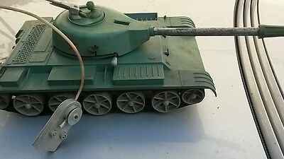 VINTAGE TOY TANK LARGE ARMY PLASTIC COMMUNIST ERA DDR GDR RUSSIA USSR REMOTE