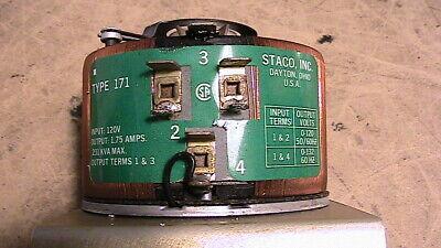 Staco Type 171 Variable Autotransformer Variac 1.75 Amps 120v .231 Kva