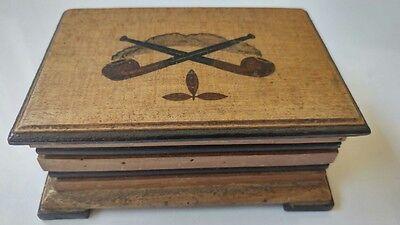 Pfeifentabkdose aus Holz Handarbeit