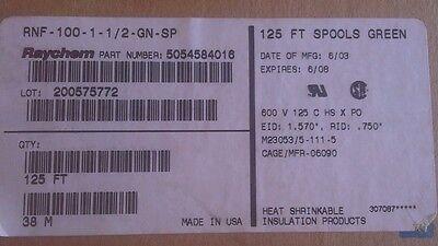 Tyco Raychem Rnf-100-1-12-gn-sp 1-12 Heat Shrink Green 125 Ft On Roll Nib