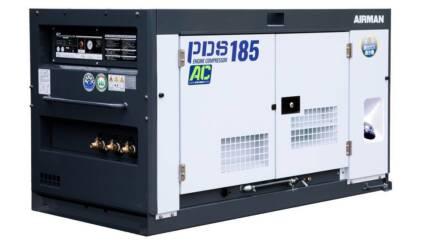 AIRMAN Diesel Compressor, 185 CFM with aftercooler