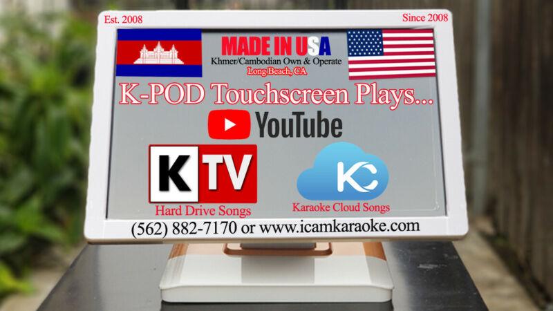 Khmer/Cambodian Touchscreen KOD Karaoke Machine (SEE DEMO VIDEO BELOW)