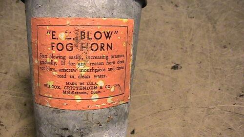 Antique Vintage E Z Blow fog horn