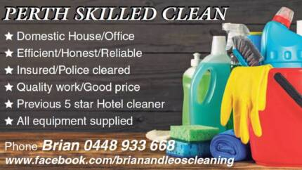 Brian & Leo's Cleaning Services (trading as Perth Skilled Clean)