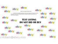 Test listing DO NOT BID OR BUY192775098926