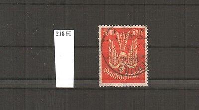 H18841 Deutsches Reich Mi. Nr. 218 FI ( Abart )  gestempelt  geprüft BPP