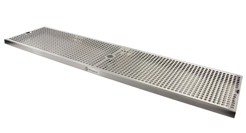 """Kegco SESM-369D 36"""" x 9"""" Surface Mount Drip Tray with Drain"""
