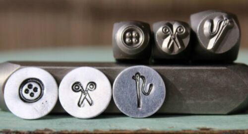 SUPPLY GUY Sewing 3 Stamp Metal Punch Design Stamp Set - SGCH-104/110/116