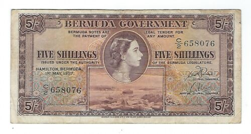 Bermuda - Five (5) Shillings, 1957