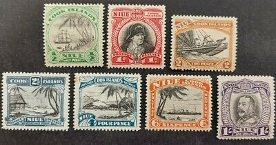 Niue 1932, set of 7x stamps mh