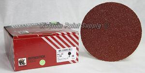 INDASA 36 Grit 6'' Sticky Back DA Sandpaper Rhynostick 600-36 (50 Sheets/Box)