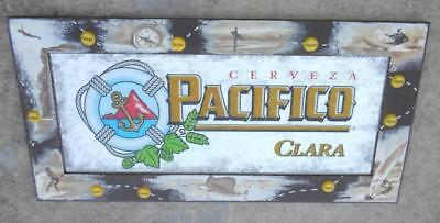 Pacifico Clara Beer Mirror Surfing Sailing Diving 36x18 Bar Wall PICK UP ONLY for sale  Port Saint Lucie