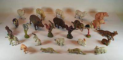 Elastolin Masse Figuren Bauernhof und Waldtiere heimische Tierwelt 25 Stück #081