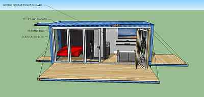 20 Ft Transportable Shipping Container Home -160 Sqft - Brand New - Made In Usa