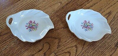 Lot of (2) Pickard Hand Decorated Bone China Trinket Dish made in USA