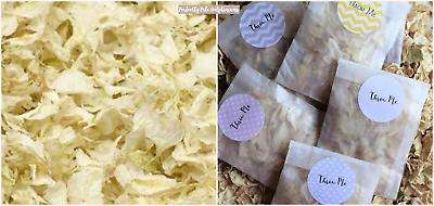 Biodegradable Petal Flower Confetti Pink Ivory Lace Rose Petals 40 Bags