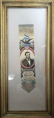 President Abraham Lincoln  Silk Death Ribbon