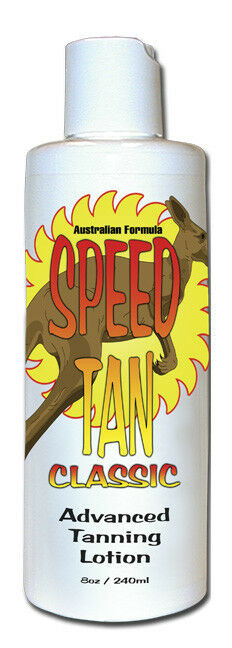 Tan Fast with SPEED TAN CLASSIC Tanning Lotion. Tropical Fra
