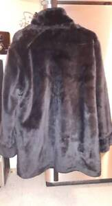 Black Fake Fur Reversible winter Jacket in perfect condition