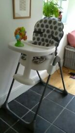 Red Kite high chair, excellent condition, bought for grandchild, now outgrown.