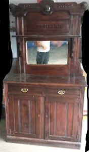 Antique/Vintage/Victorian period hutch or cabinet with miror