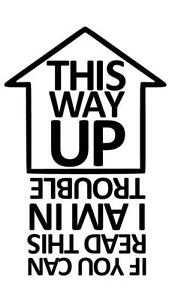 THIS WAY UP Funny Caravan Swift Bailey Novelty Vinyl Decal ...  THIS WAY UP Fun...
