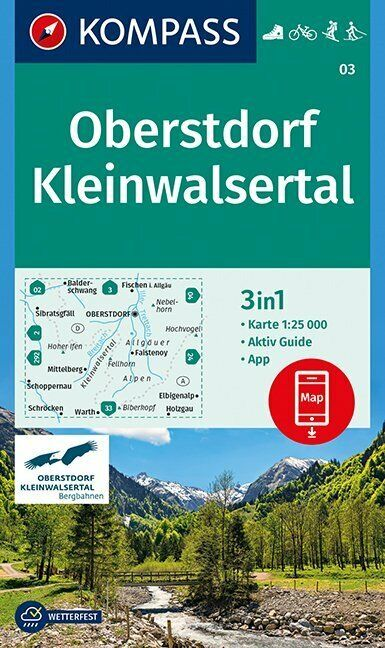Oberstdorf, Kleinwalsertal 1:25 000