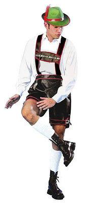 Deutsch Lederhosen (Herren Oktoberfest Bayrisch Bierfest Deutsch Lederhosen Kostüm Outfit NEU)