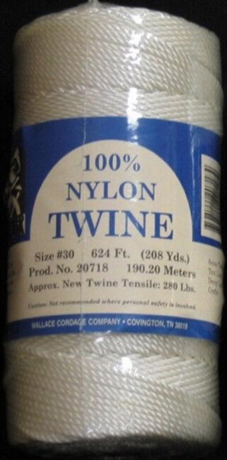 Hicks Wallace Cordage Mariner White Twisted Nylon Siene Twine CHOOSE YOUR SIZE