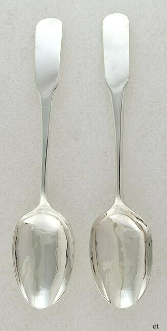 Antique c1805 Southern American Coin Silver South Carolina Table Place Spoons