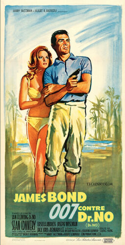 DR.NO (United Artists, 1962)James Bond-Sean Connery-French