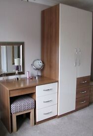 Double wardrobe and matching dressing table