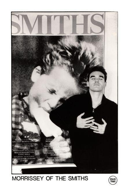 """the SMITHS  - 24"""" POSTER -    Morrissey ROUGH TRADE Promo ad"""