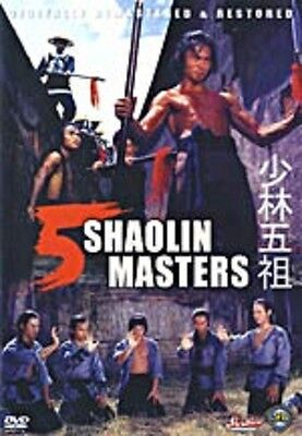 5 Shaolin Masters   - Hong Kong RARE Kung Fu Martial Arts Action movie - NEW DVD
