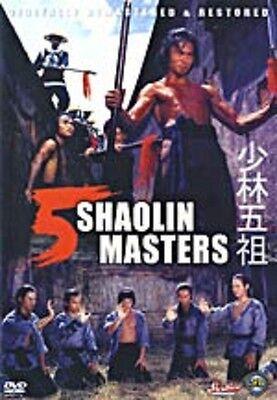 5 Shaolin Masters   - Hong Kong RARE Kung Fu Martial Arts Action movie - NEW DVD