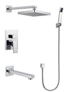 "Shower set | Shower column | 8"" | 10 "" | 12"" | 16"" "" Rain shower head | Celing | in Wall | Many flex options|"