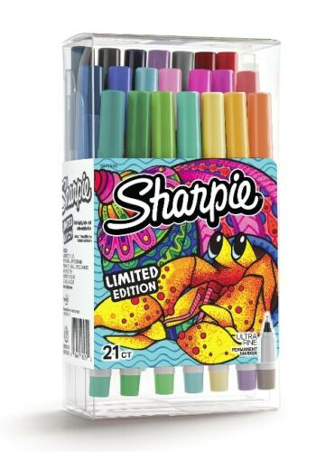 New Sharpie Permanent Marker Limited Edition Ultra Fine Point 21 Ct