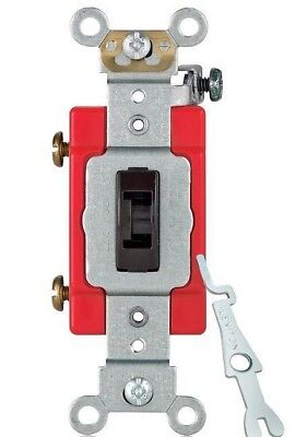 4x Leviton 1221-2l - 20 A 120277v Industrial Heavy Duty Locking Toggle Switch