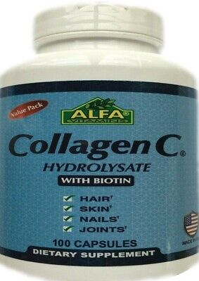 Collagen C Hydrolysate with BIOTIN and vitamin C,Best Supplement made in USA 100