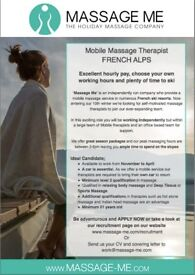Mobile Massage and Beauty therapist - French Alps