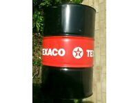 Empty steel oil drum 45 gallon, 205 litre