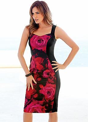 KALEIDOSCOPE ROSE PRINT PANEL DRESS SIZE 10 & 12 NEW WITH TAG RRP £79.00