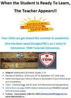 Maths/Science: Best rated 1on1 tutor in Edmonton:Summer Specials