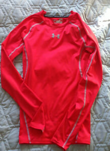 Boys Red Long Sleeve Under Armour Top