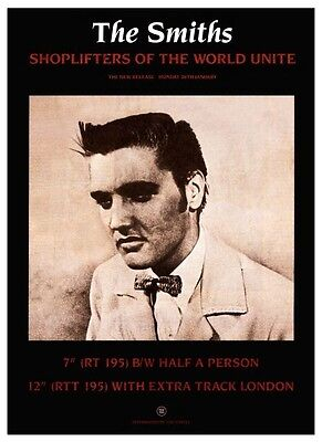 The Smiths Poster Shoplifters Of The World  Large  Promo Morrissey Elvis Presley