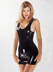 Sexy-Black-Sharon-Sloane-Latex-Mini-Dress-Fetish-Rubber